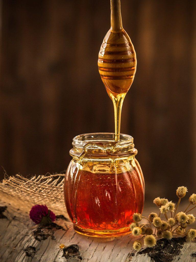banho de hidromassagem com mel